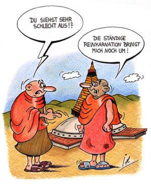 Reinkarnationstherapie scherzhaft